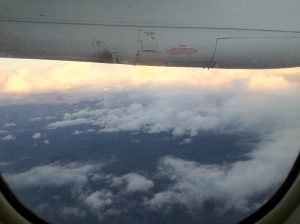 Dawn at 21,000 feet
