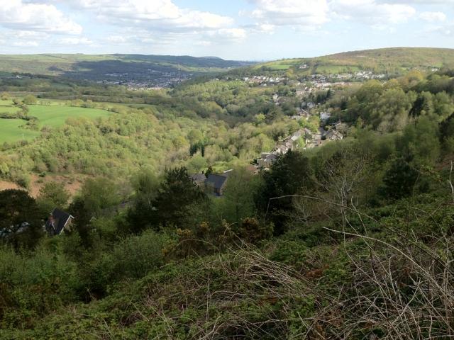 Overlooking Craig Cefn Parc
