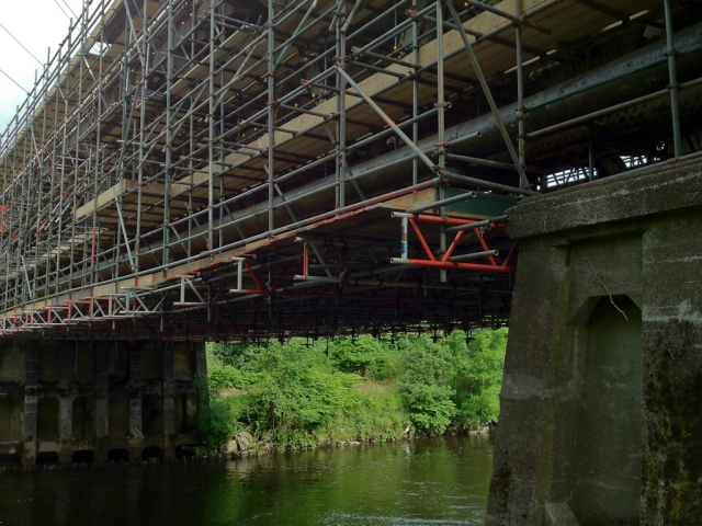 Working on the Rail Bridge