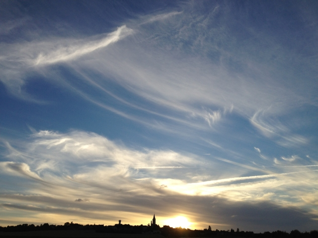 Evening Sky over Faye la Vineuse
