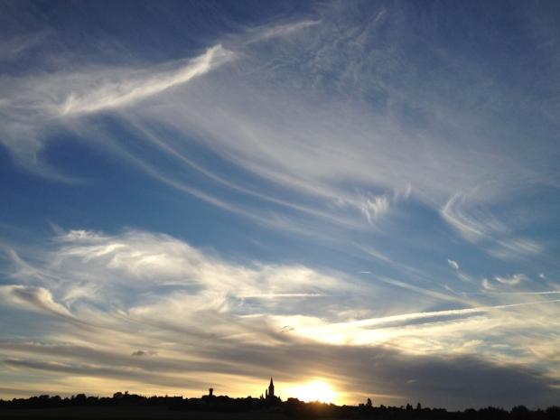 Evening Sky over Faye la Vineuse