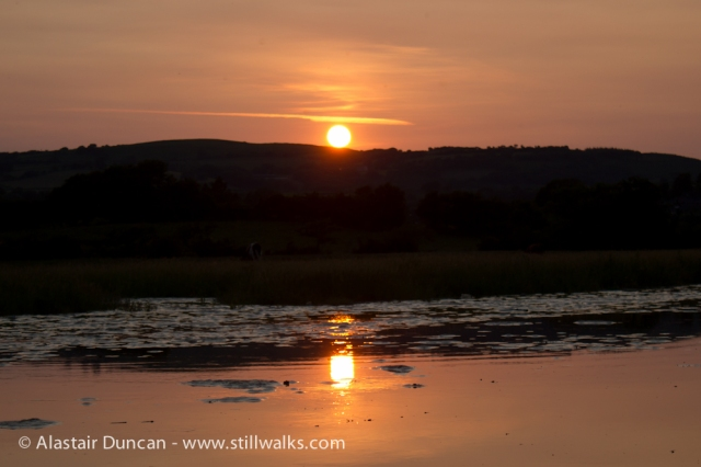 Sunset on the River Loughor