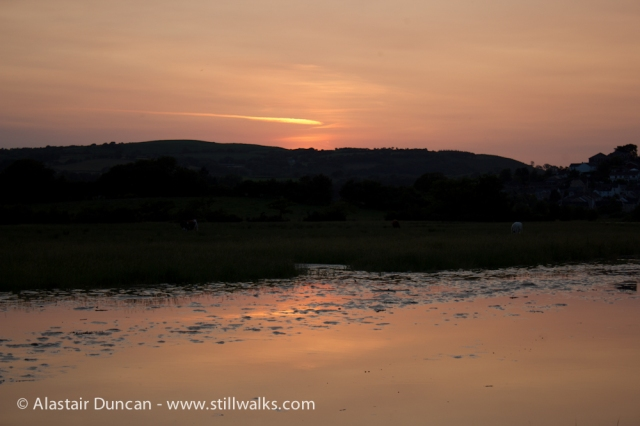 Sundown on the River Loughor