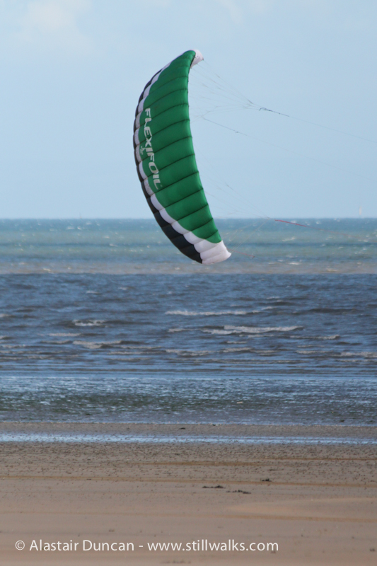 Land Surfing Wing in Swansea Bay
