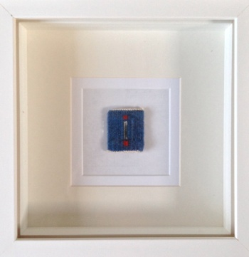 Mini tapestry box framed