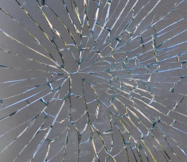 broken glass detail