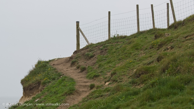 Cliff top fence