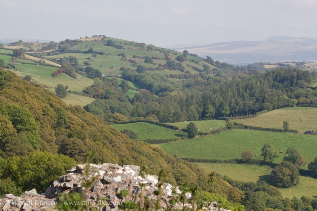 View from Carreg Cennen