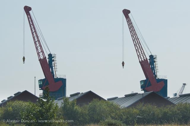 Twin cranes