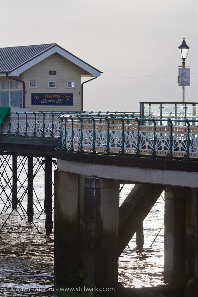Penarth Pier against the morning sun