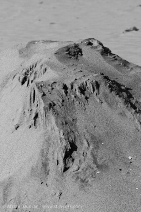 monochrome sand mountain