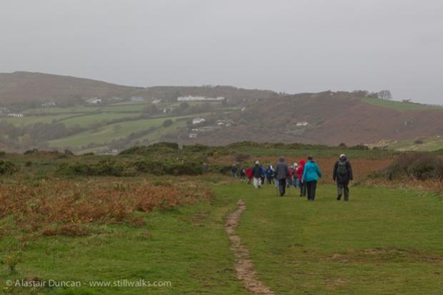 walking on Gower