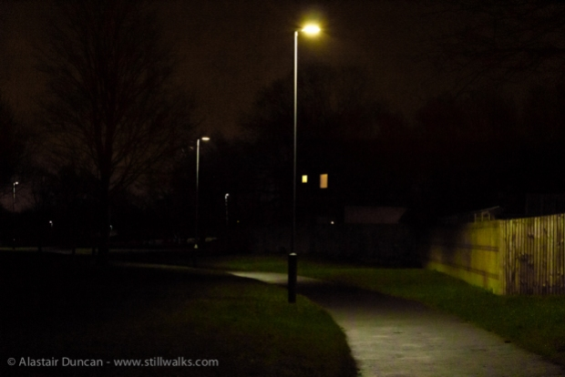 night time footpath