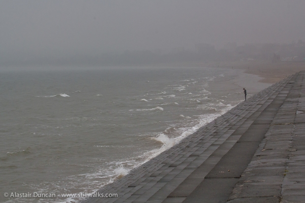 person on seafront